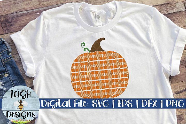 Plaid Pattern Pumpkin Digital Design
