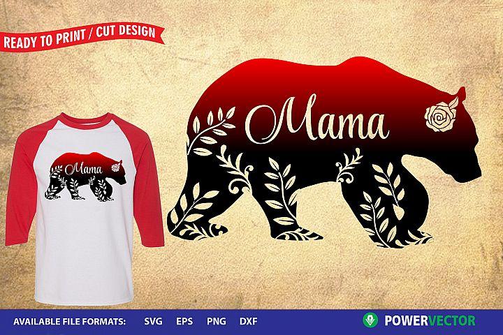 Mama Bear Design, Sublimation Printable Design