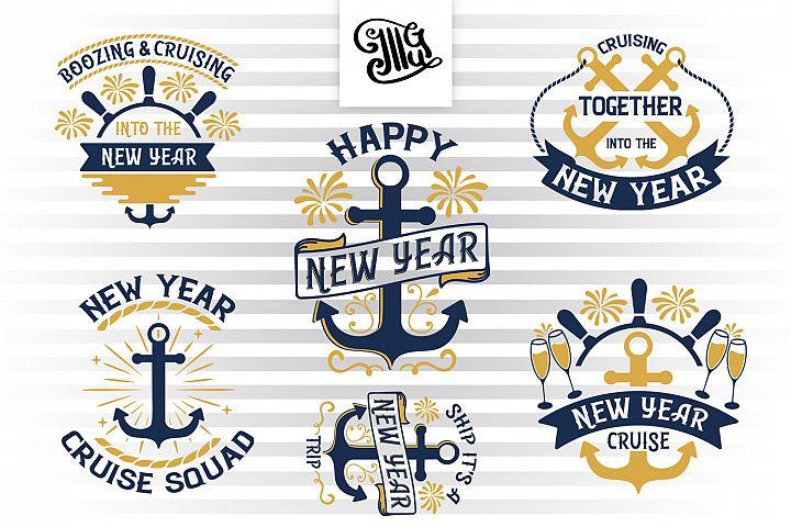 New Year Cruise svg bundle