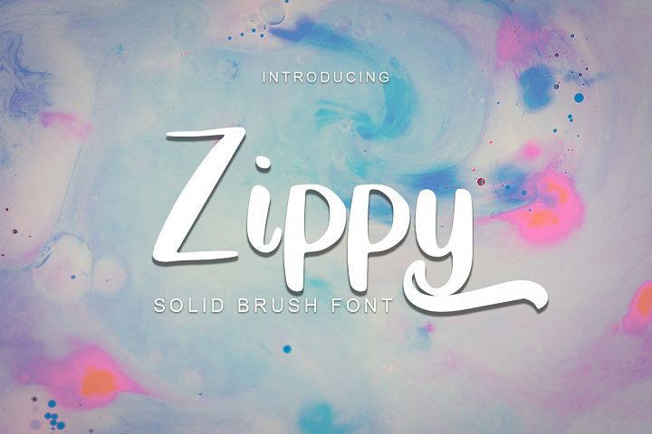 Zippy - Solid Brush Font