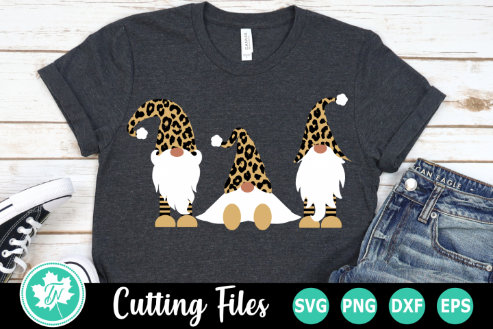Leopard Print Gnomes - A Christmas SVG Cut File