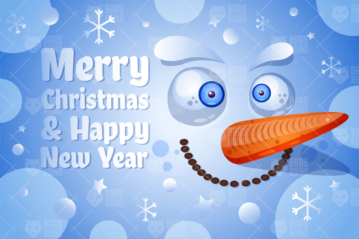Merry Christmas & Happy New Year With Snowman