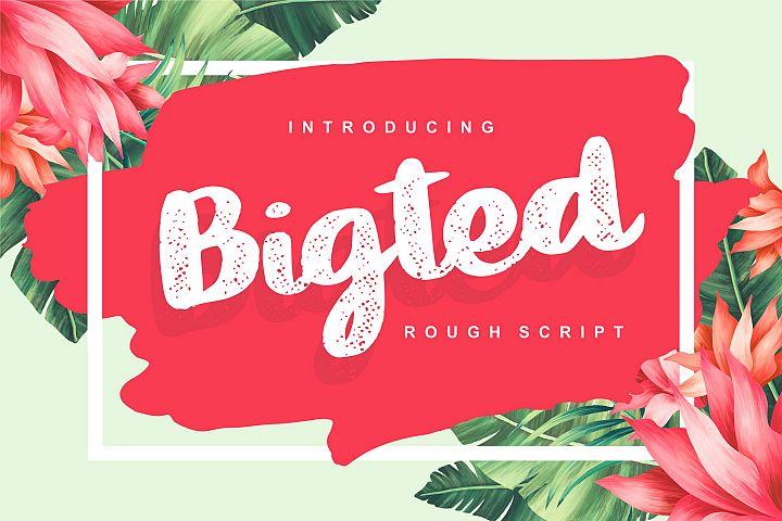 Bigted | Rough Script Font