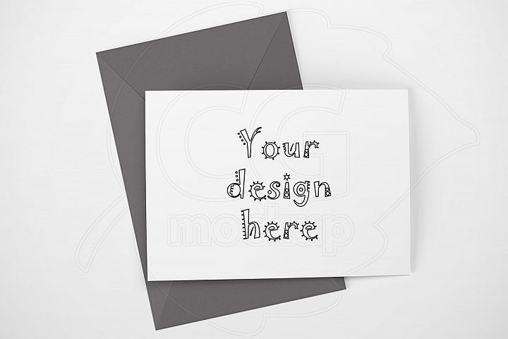 Landscape mockup greeting card A6