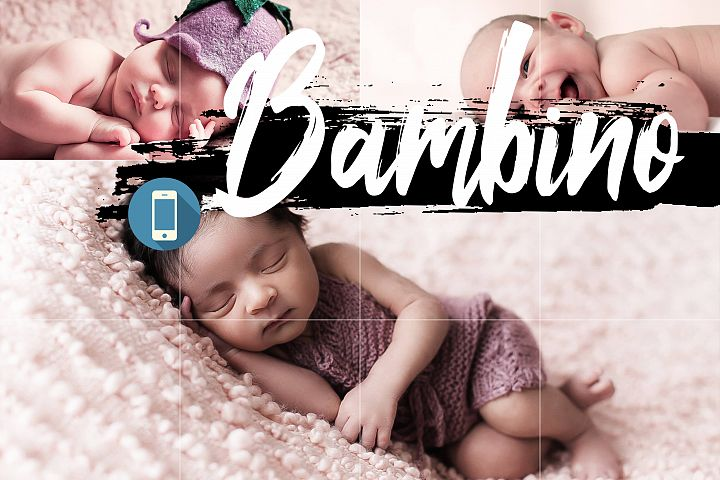 Neo Bambino Theme mobile lightroom presets newborn LR Tone