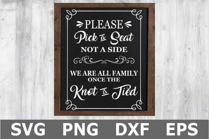 Pick a Seat - A Wedding SVG Cut File