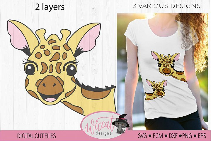 Funny Giraffe face svg, summer design