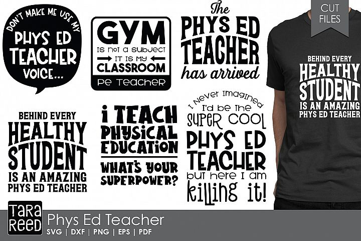 Phys Ed Teacher - School SVG and Cut Files for Crafters