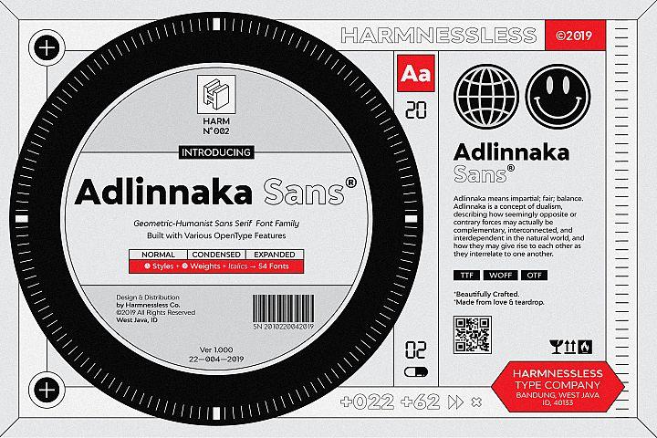 75 off Adlinnaka Sans - Font Family