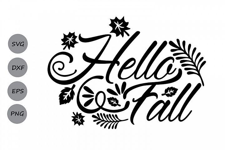 hello fall svg, thanksgiving svg, fall svg, autumn svg.