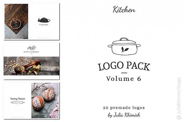 Logo Pack Volume 6. Kitchen