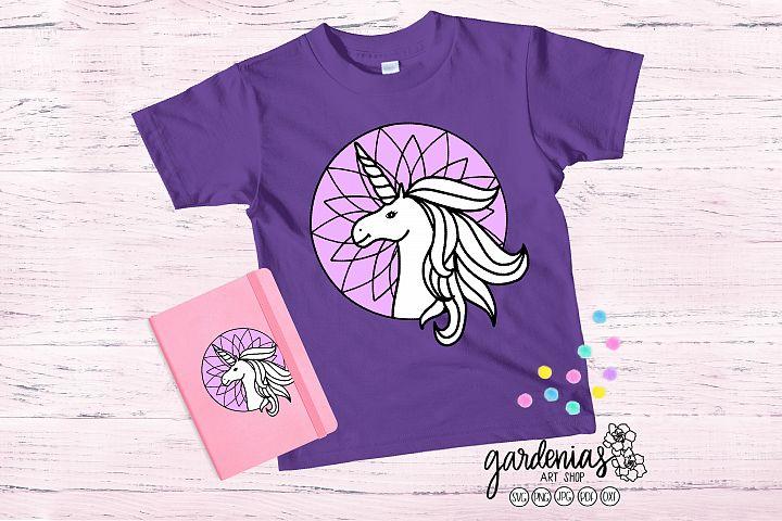 Unicorn SVG Cut File | Unicorn Head | Kids Shirt SVG
