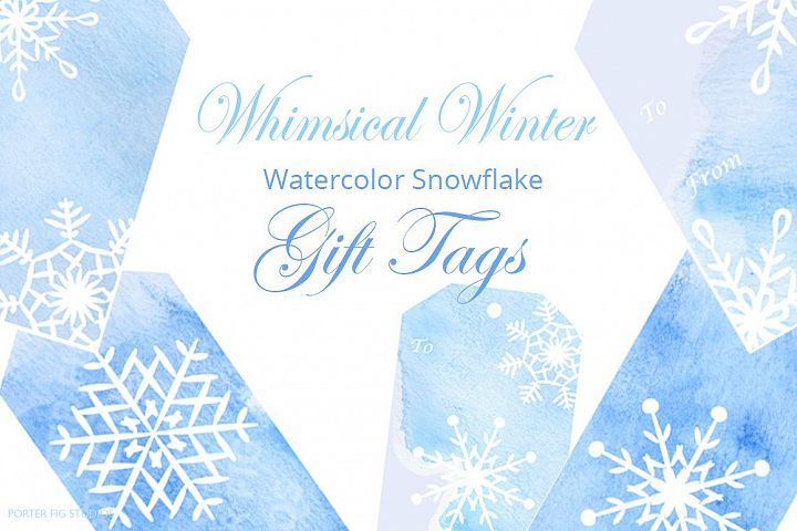 Watercolor Snowflake Gift Tags
