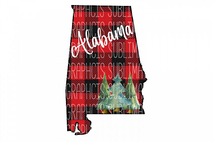 Alabama Plaid Sublimation Digital Download