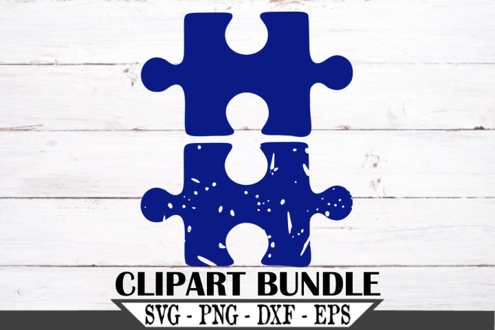 Puzzle Piece Regular and Distressed SVG