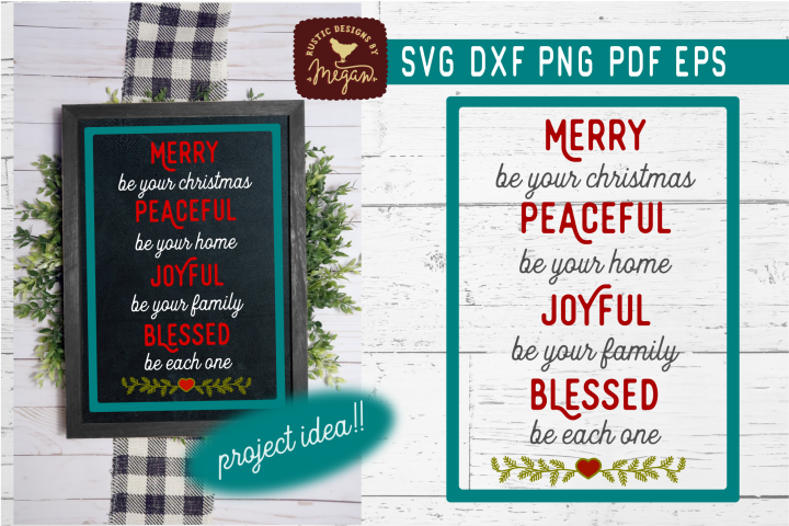 Merry Be Your Christmas SVG DXF Cut File