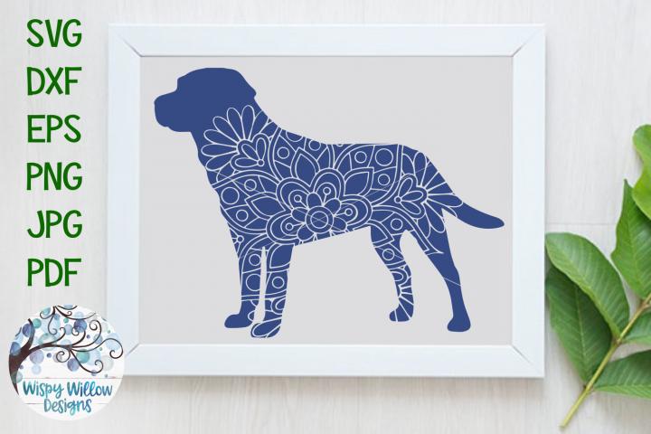 Labrador Retriever Dog Mandala | Animal Mandala SVG