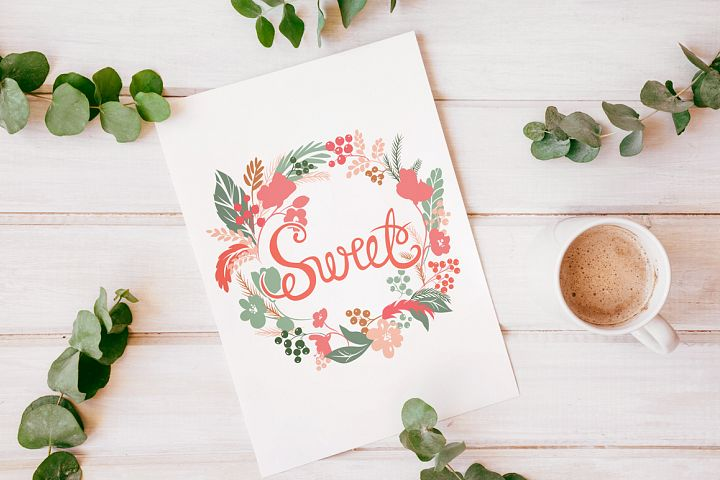 Vector Floral, patterns & hearts