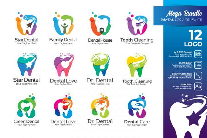 Bundle Logo - Dentist and Dental Logo Collection