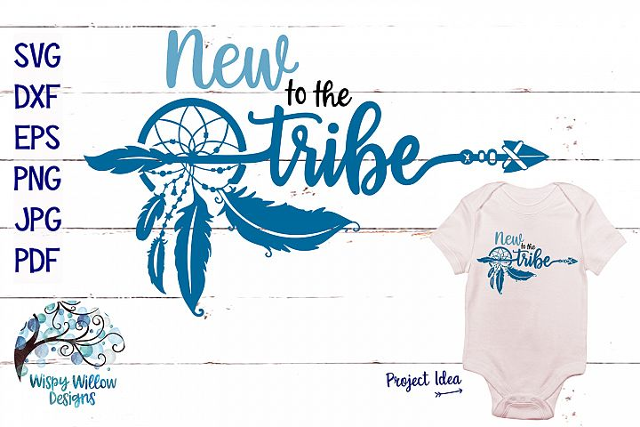 New To The Tribe SVG | Boho Feather Dreamcatcher SVG C