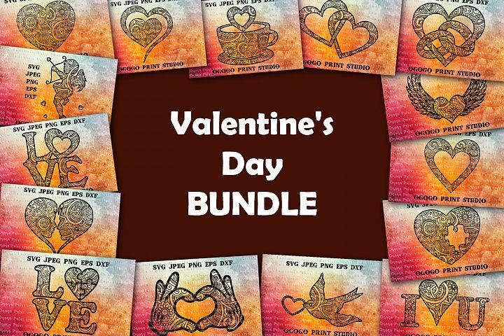 Heart Svg files, Valentines Day svg Bundle, Love svg