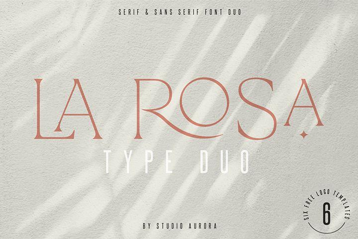 La Rosa Elegant Unique Serif Font