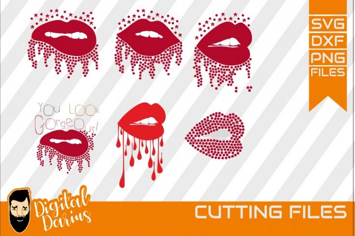 6x Lips svg, Mascara svg, Vector, Cricut, rhinestone svg