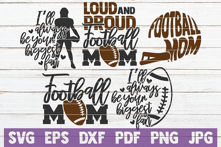 5 Football Mom SVG Cut Files | Football SVG Bundle