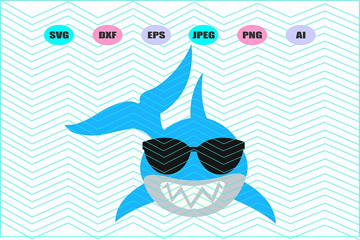 Baby Shark Svg Vector File Cricut Design Vinyl Decal Vinyl