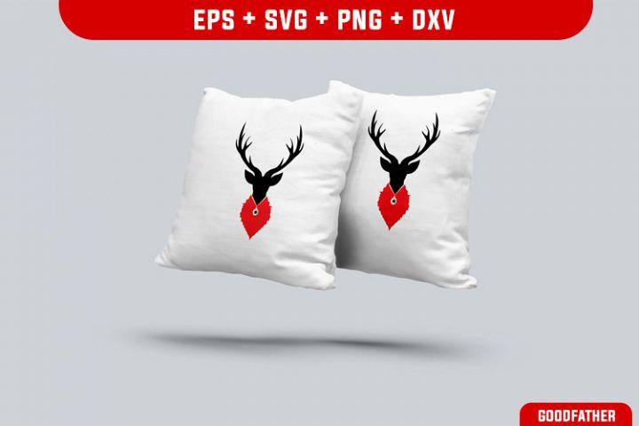 Deer, Deer Dog SVG, PNG, EPS, DXF