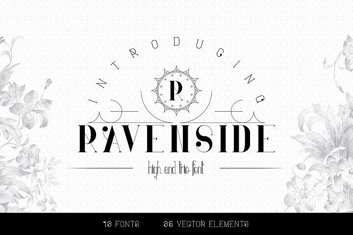 Ravenside-high end trio font