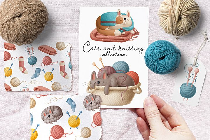 Cats and knitting