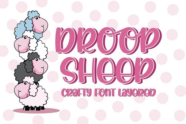 Droop Sheep - Crafty Font Layered