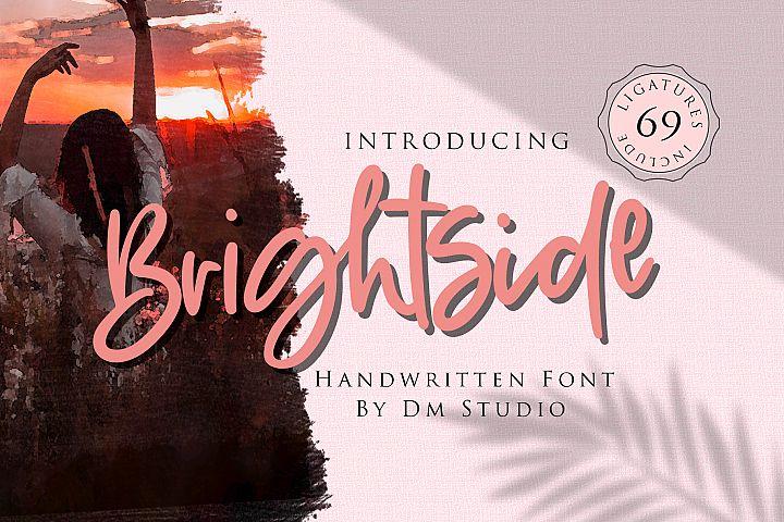 Brightside - Handwritten Brush Font