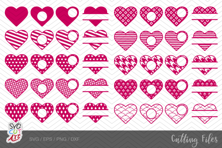 40 Hearts svg, Valentine hearts svg, bundle heart svg pack#2