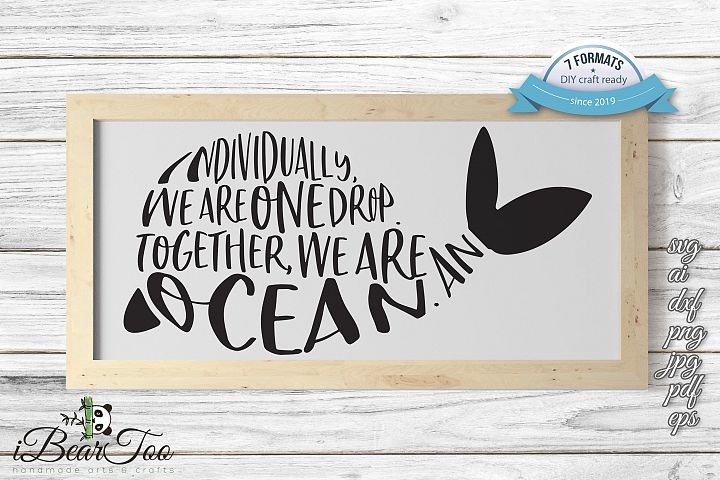 Whale Quote SVG Clipart Vector Cut Files
