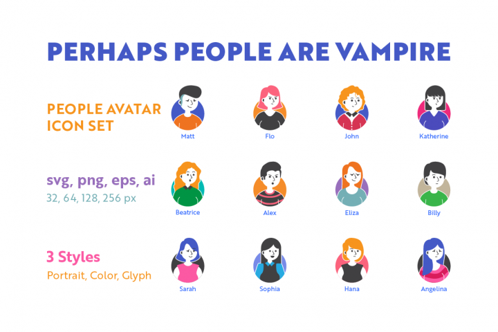 People Avatar Icon Set