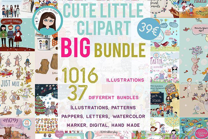 Big bundle clipart characters