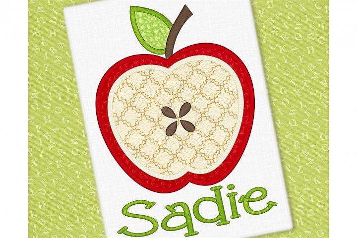 Apple Applique Embroidery Design 1294