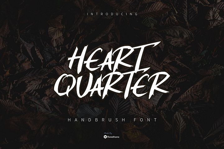 Heart Quarter - Brush Script Font