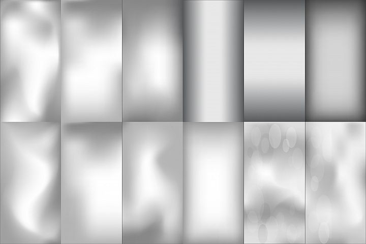 Blurred silver effect holographic gradient background