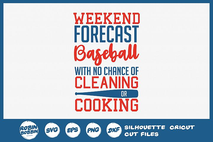 Baseball SVG - Weekend Forecast Baseball SVG