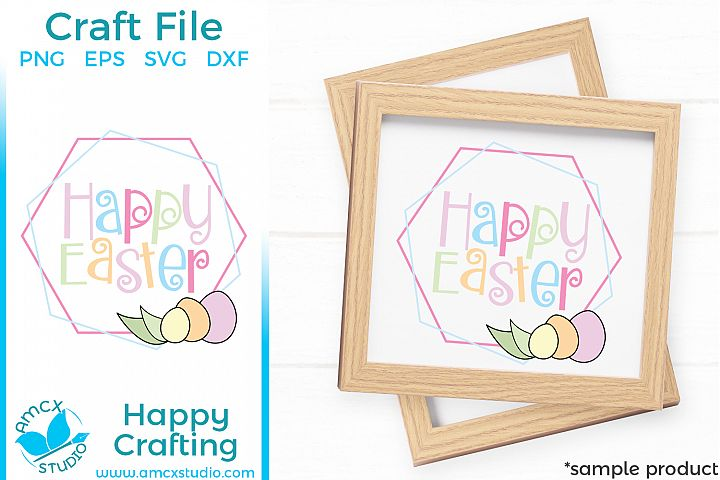 Happy Easter - Easter Sign Cut Craft Files
