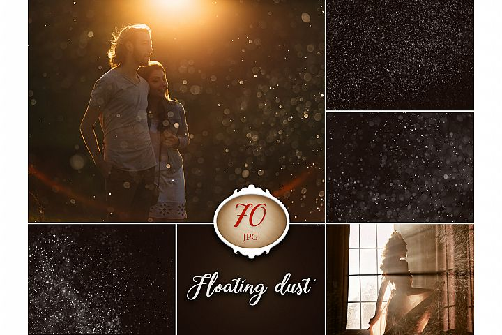 70 Floating Dust Photo Overlays