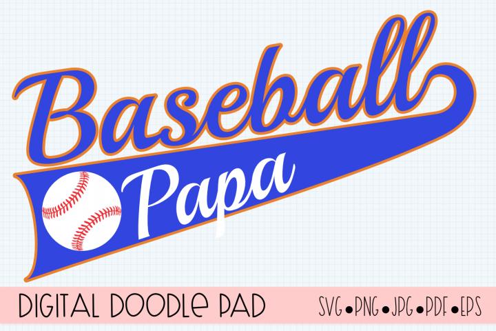 Baseball Papa SVG | Silhouette and Cricut Cut File