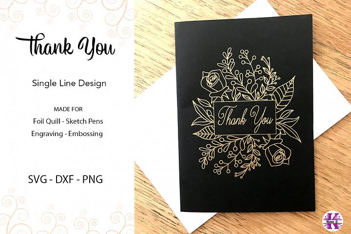 Thank You for Foil Quill|Sketch Pen|Embossing|Engraving