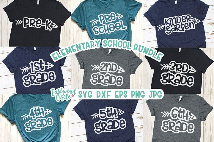 Elementary School SVG Bundle - Cut Files for Crafters