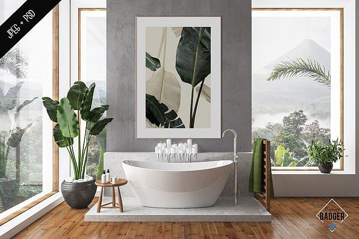 Bathroom interior mockup - frame & wall mockup creator