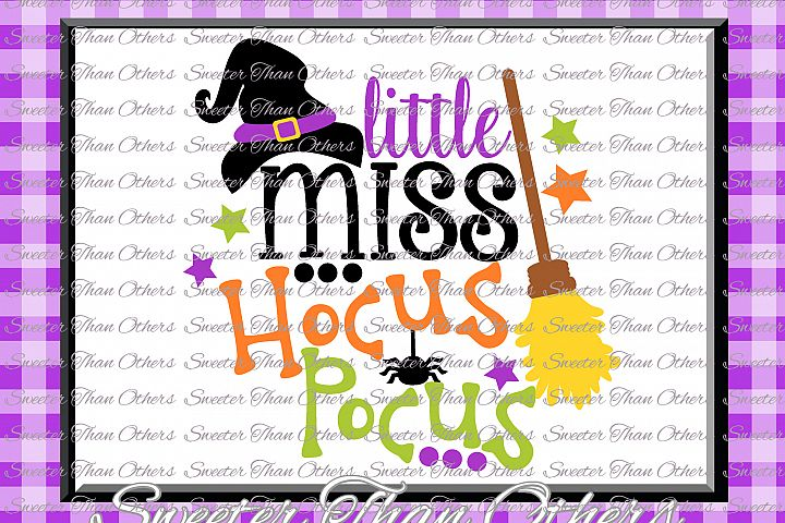 Halloween svg, Little Miss Hocus Pocus svg