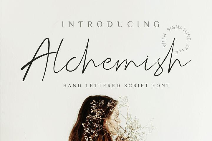 Alchemish Signature Script Font